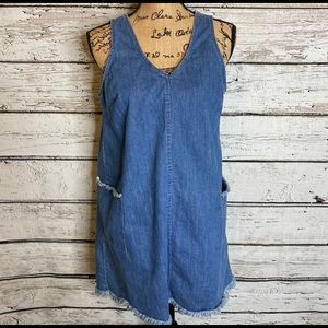 Old Navy Denim V neck Dress Sz Medium
